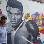Mar guiding us about Street Art