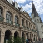 View of the Cabildo Museum and St. Louis Cathedral from Jackson Square