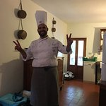 Chef Emanuele cooking at our villa