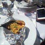 spaghetti allo scoglio nel cartoccio...bellissimiiiii e buonissimi