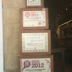 Certificados de premios por tapas