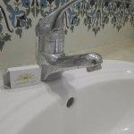 robinet sans eau a une température de 45°C