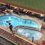 the pool in right center field