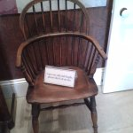 This chair is very old and people are asked not to sit on it.