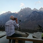 The best view of the Jade Dragon Mountain from Tea Horse Guest House in  Tiger Leaping Gorge.