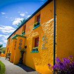 our old Irish Cottage, in bright Yellow