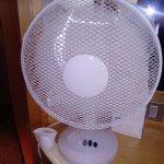 Noisy fan provided to cool room