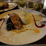 The salmon with spinach about 13euros.