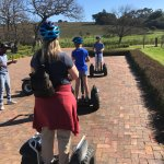 Getting going on the Segway tour