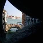 From inside the Bridge of Sighs