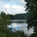 Eggborough Power Station from Barlow Common lake.