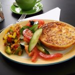 Colourful and Tasty Quiche and Salad