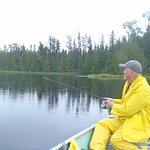 Wade fishing on Antler Lake.