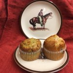 Lemon Poppyseed and Blueberry Muffin baked in-house