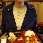 My good lady and her lunch