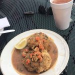 Crab cakes with Craw fish sauce
