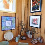 paintings, jewellery, pottery and sculpture.