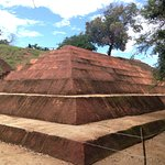 Partially excavated adobe pyramid that aligned with important celestial events