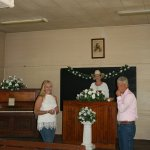 Geralyn officiating our wedding at Winona Church