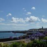 Looking towards Penzance Harbour from Mount Royal Garden