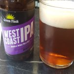 Green Flash West Coast IPA, 8.1% and very zesty!
