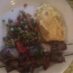 Lamb Kebabs with tabbouleh