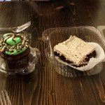 Mint Chocolate Chip Cupcake & Cookies and Cream Brownie