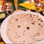 Single chapati with some coconut chutney! (only 2.50€)