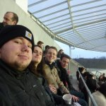 me and my friends in the stadion