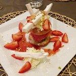 Financier aux pistaches et fraises