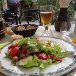 Salade aux anchois de Collioure