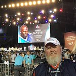 At Enshrinement Ceremony. VIP seats. Saw many great players and coaches in the audience.