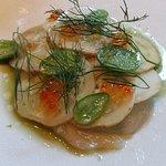 1er plat: concombre poisson