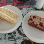 lemon drizzle cake and raspberry and white chocolate cake