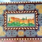 Neceser con tintes naturales y la Alhambra pintada a mano