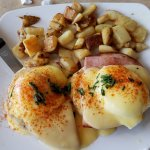 Eggs Benedict with potatoes