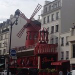 Moulin Rouge just across the road, so is the Metro station - very convenient indeed