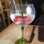 Strawberry and lime gin
