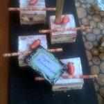 Gâteau d'anniversaire au resto