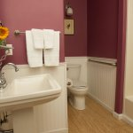 Room 16 offers a spacious en-suite bath and is suitable for mobility impaired guests