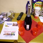 ...a bottle of champagne, glasses and a well wish complimentary from the hotel!