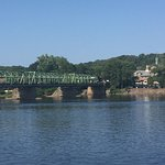 View of the bridge to Lambertville, New Jersey, from Martine's outdoor patio.