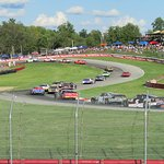 Views from Grandstand 2 at Mid-Ohio for the NASCAR Mid Ohio Challenge