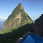 morning view of Petit Piton