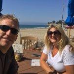Wife and I enjoying breakfast.