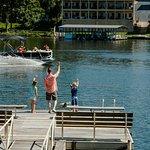 Swim dock area.