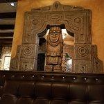 An Aztec statue