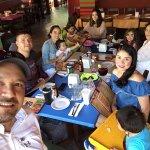 Family lunch at La parrilla (Playa del Carmen).