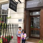 My children enjoying their time in London.