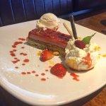 Pistachio and Strawberry Cake.